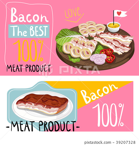 Barbecue bacon assorted on cutting board 39207328