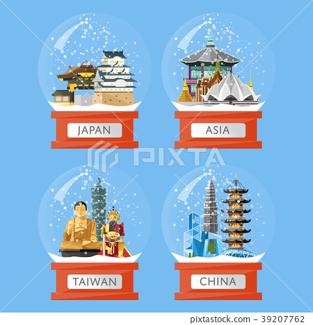 Snow globes with famous attractions 39207762