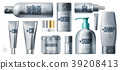 Realistic daily beauty care cosmetic product set 39208413