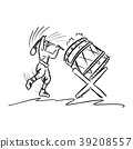man playing traditional drum vector illustration 39208557
