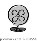 fan with shadow vector illustration sketch  39208558