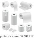 Realistic paper roll mock up set 39208712