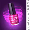 Realistic nail polish makeup product 39208746