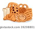 Bakery pastry isolated cartoon illustration set 39208801