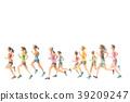 慢跑 奔跑 跑步 39209247