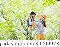 父母和小孩 親子 擁抱 39209973