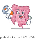With megaphone intestine character cartoon style 39210056