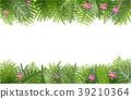 熱帶 樹葉 向量 39210364