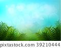 熱帶 樹葉 向量 39210444