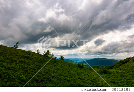 mountain landscape in rainy weather 39212195