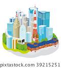 東京都市風景3D例證 39215251