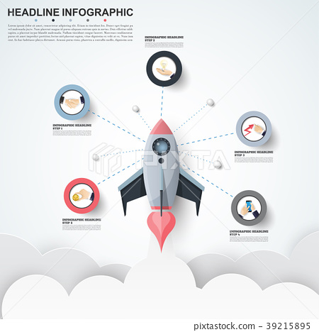 Abstract infographics number options template. 39215895
