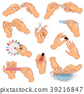 Manicure vector manicured hands and manicuring 39216847