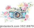 水彩画 水彩 照相机 39218879