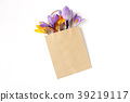 Easter floral composition. Yellow and violet 39219117