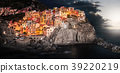 colorful cinque terre Manarola before sunset 39220219