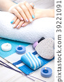 manicure, hand, candle 39221091