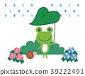 青蛙和蜗牛和雨的例证材料 39222491