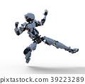 หุ่นยนต์ Humanoid perming3DCG ภาพประกอบวัสดุ 39223289