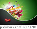 Casino Illustration with poker cards and playing 39223701
