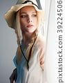 Sensual Country Woman in Hat Portrait. Cowgirl   39224506