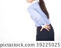 A woman complaining of low back pain 39225025