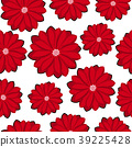 Pretty daisy floral print seamless background 39225428