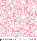 Pretty daisy floral print seamless background 39225436
