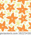 Pretty daisy floral print seamless background 39225438