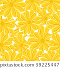 Pretty daisy floral print seamless background 39225447
