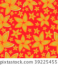 Pretty daisy floral print seamless background 39225455
