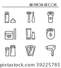 Hair removal methods line icons set. Shaving 39225765