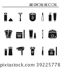 Hair removal methods silhouette icons set. Shaving 39225778