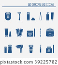 Hair removal methods silhouette icons set. Shaving 39225782