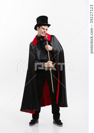 Vampire Halloween Concept - Full length Portrait 39227123