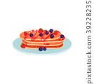 pancake, stack, vector 39228235