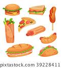 food, fast, vector 39228411