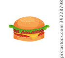 burger, vector, hamburger 39228798