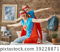 Girl and mom in Superhero costume 39228871