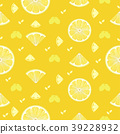 Lemon fruits seamless pattern background vector 39228932
