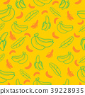 Banana fruit seamless pattern background vector 39228935