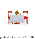 Dining table and chairs for two people, romantic 39230084