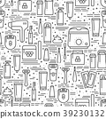 Hair removal methods line seamless pattern 39230132