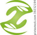 Two hands, team, helpers, friends, nursing, logo 39232194