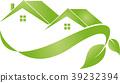 Houses, leaves, real estate, eco-houses, logo 39232394