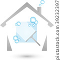 Clean windows, house, soap bubbles, cleaning 39232397