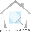 Cleaning windows, house, cleaning, logo 39232398