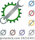 Gear, wrench, locksmith, mechanic, tools, logo 39232401