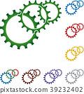Gears, locksmith, mechanic, industry, logo 39232402