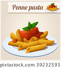 pasta, penne, vector 39232593